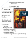 Mother of God Covenant Community Supplemental Information 1997