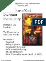 Mother of God Covenant Community Supplemental Information 1997