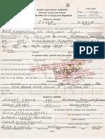 Truman Clyde Leach - Employment Application for Clark Equipment Company