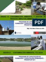 Sesión 21 Agua, contaminación y tratamiento