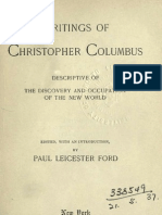 Writings of Christopher Columbus Descriptive of the Discovery and Occupation of the New World