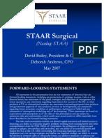 Staar Surgical Nasdaq