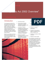 Companies Act 2002 Overview