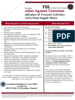 Potential Indicators of Terrorist Activities - Farm Supply Stores