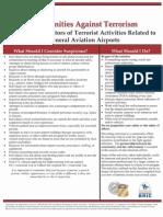 Potential Indicators of Terrorist Activities - General Aviation Airports