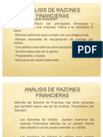 PRESENTACIÓN ANALISIS DE RAZONES FINANCIERAS