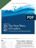 20 Under 40, 2012 Edition