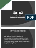 Presentation Automobile History