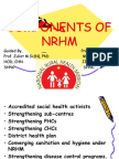 Components of Nrhm 1
