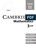 Cambridge 3 Unit Mathematics Year 11