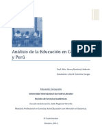Análisis de la Educación Perú Colombia