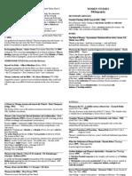women's studies - bibliography