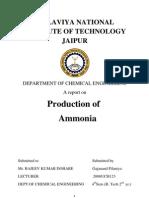 Production of Ammonia