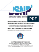 Prosedur Operasi Standar Ujian Nasional Cover