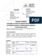 STAT2001 Course Outline 1st Sem 2012