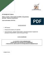 Mémoire - La Société civile immobilière, Instrument de gestion de patrimoine - master 2 ingenierie du patrimoine 220811