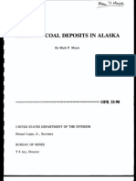 Selected Coal Deposits in Alaska