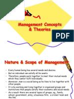 Management Concept & Theories