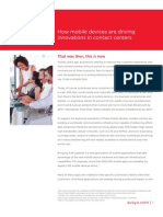 How Mobile Devices Are Driving Innovations in Contact Centers White Paper