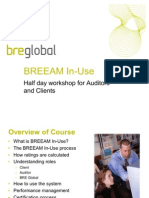 BREEAM in-Use Client and Auditor Training Workshop 19-01-11