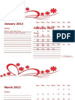 2012 Monthly Calendar Landscape 06
