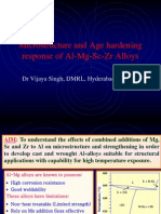 Al-Mg-Sc-Zr Alloys Micro Structure and Age Hardening Response