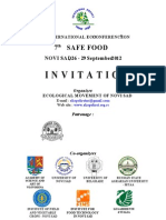 Invitation on XVI International Eco-Conference 2012