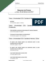 Resumen prensa CEU-UCH 20-02-2012
