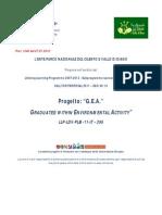 Progetto Gea Cilento Parco 2012