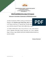 Extension Notice RfS PV10