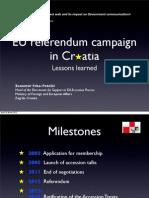 EU referendum campaign in Croatia - Lessons learned