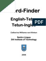 DIT Tetun-English Word Finder - Minus Cover