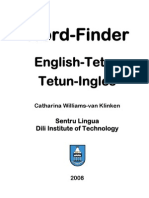 DIT Tetun-English Word Finder - Minus Cover