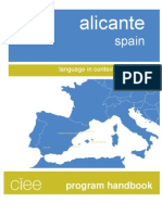 Alicante Program Handbook