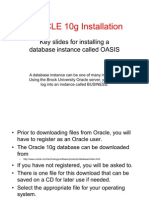 Oracle 10g Installation