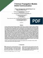 Survey of Propagation Models