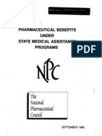 Pharmaceutical Benefits Under State Medical Assistance Programs, 1985