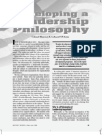 Developing a Leadership Philosophy