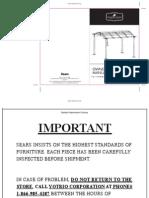 11 x 11 Ft. Curved Pergola Gazebo-Owner's Manual