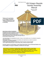 12 Ft. Octagon Bayside Gazebo Assembly Manual
