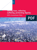Dfid_Saving Lives, Relieving Sufferng, Protecting Dignity DFDIF's Humanitarian Policy_2006