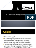 adidas-reebok case study | Adidas | Mergers And Acquisitions