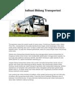 Dampak Globalisasi Bidang Transportasi