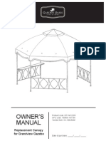 Replacement Canopy for Clayton Gazebo D71 M12209