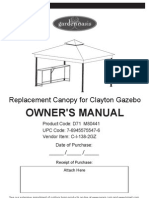 Replacement Canopy for Clayton Gazebo D71 M80441