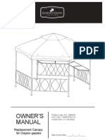 Replacement Canopy for Clayton Gazebo D71 M80930