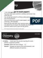 Exam Language Chem