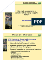Life Cycle Assessments of Selected Crops for Europe( PPT Version)