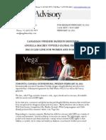 Vega Press Release Feb 2012
