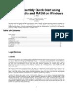 32bit Assembly Quick Start Using Visual Studio and Masm on Windows